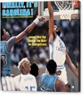 North Carolina James Worthy, 1982 Ncaa National Championship Sports Illustrated Cover Acrylic Print