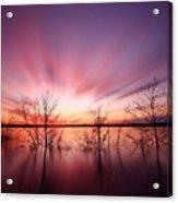 North Carolina Sunset Acrylic Print