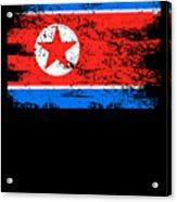 North Korea Shirt Gift Country Flag Patriotic Travel Asia Light Acrylic Print