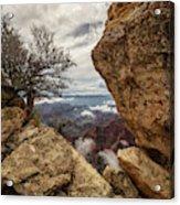 North Rim Fog 1 - Grand Canyon National Park - Arizona Acrylic Print