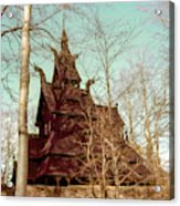 Norwegian Stave Church Acrylic Print