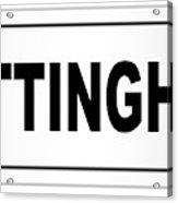 Nottingham City Nameplate Acrylic Print