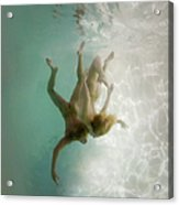Nude Man And Woman Underwater Acrylic Print