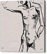 Nude Model Gesture Xxi Acrylic Print