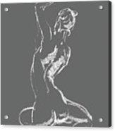 Nude Model Gesture Xxviii Acrylic Print