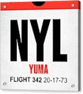 Nyl Yuma Luggage Tag I Acrylic Print