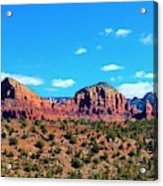 Oak Creek Jack's Canyon Blue Sky Clouds Red Rock 0228 3 Acrylic Print
