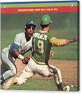 Oakland Athletics Bert Campaneris, 1973 World Series Sports Illustrated Cover Acrylic Print