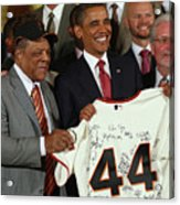 Obama Welcomes Mlb World Champion San Acrylic Print