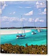 Ocean View From Warderick Cay In Exumas Acrylic Print