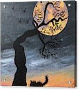 October Hunters Moon Acrylic Print