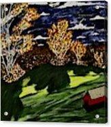 October Moon Shadow Acrylic Print