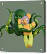Octopus Green And Bear Acrylic Print