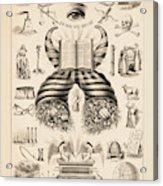 Odd-fellows Chart, 1877 Acrylic Print
