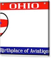 Ohio License Plate Acrylic Print