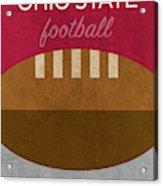 Ohio State Football Minimalist Retro Sports Poster Series 003 Acrylic Print