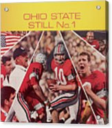 Ohio State Still No. 1 Sports Illustrated Cover Acrylic Print
