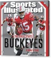 Ohio State University 2014 Ncaa National Champions Sports Illustrated Cover Acrylic Print