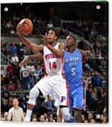 Oklahoma City Thunder V Detroit Pistons Acrylic Print