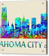 Oklahoma City Watercolor Acrylic Print