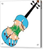 Oklahoma State Fiddle Acrylic Print