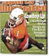 Oklahoma State University Dez Bryant Sports Illustrated Cover Acrylic Print