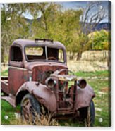 Old Abandoned Chevy Truck Acrylic Print