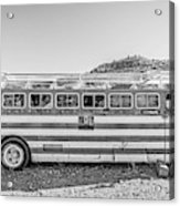 Old Abandoned Vintage Bus Jerome Arizona Acrylic Print