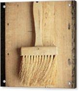 Old Bristle Brush Acrylic Print