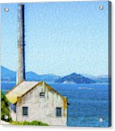 Old Building At Alcatraz Island Prison Acrylic Print