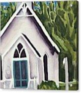 Old Church Copake Falls Acrylic Print