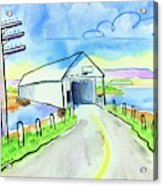 Old Covered Bridge - Avonport N.s. Acrylic Print