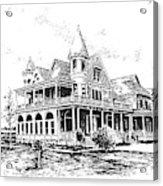 Old Daly Mansion Hamilton Montana Acrylic Print