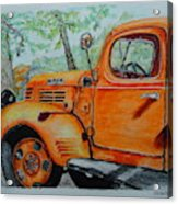 Old Dodge Truck At Patterson Farms Acrylic Print