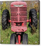 Old Farmall Vintage Tractor Springfield Nh Acrylic Print