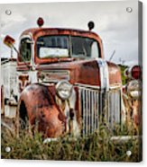 Old Fire Truck In The Mountains Acrylic Print