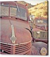Old Friends Two Rusty Vintage Cars Jerome Arizona Acrylic Print