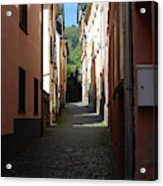 old historic lane in Cochem Germany Acrylic Print