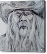 Old Man In A Hat  Acrylic Print