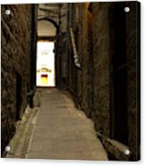 old medieval close in Edinburgh Acrylic Print