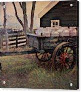 Old Milk Wagon Acrylic Print