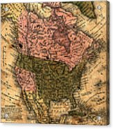 Old North America Map Acrylic Print