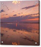 Old Orchard Beach Glorious Sunset Acrylic Print