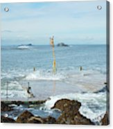 old pier at North berwick and Forth estuary Acrylic Print