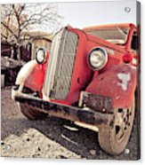 Old Red Truck Jerome Arizona Acrylic Print
