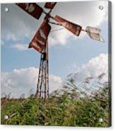 Old Rusty Windmill. Acrylic Print