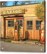 Old Service Station In Rural Utah, Usa Acrylic Print