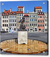 Old Town Market Square Of Warsaw In Poland Acrylic Print