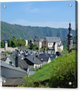 old town walls and church and buildings of Cochem Acrylic Print