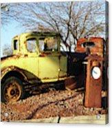 Old Yellow Coupe Acrylic Print